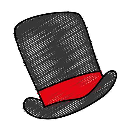 solid background: gentleman hat isolated icon vector illustration design