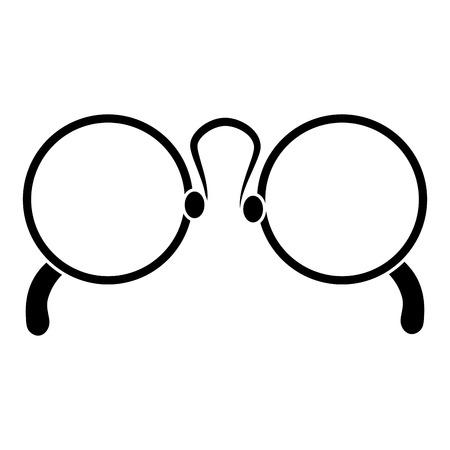 het pictogramontwerp van oogglazen geïsoleerd pictogram