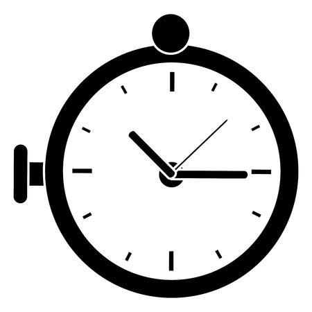 retro Pocket Watch icon vector illustration design Stock Photo