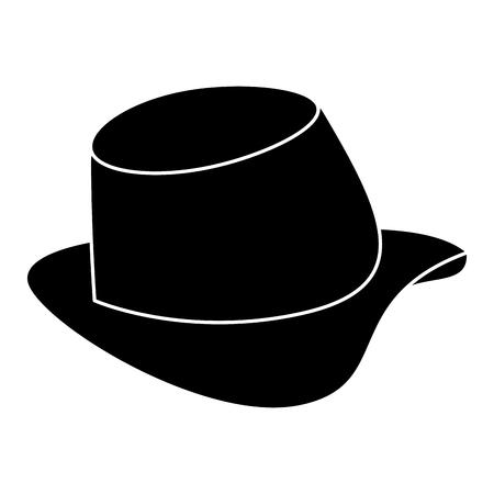 gentleman geïsoleerd hoed pictogram vectorillustratieontwerp