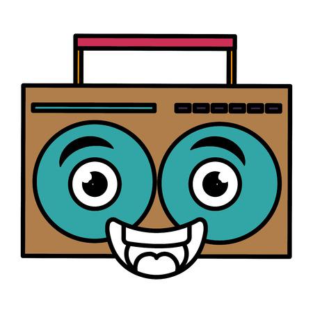cassette tape: music player kawaii character vector illustration design Illustration