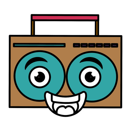 music player kawaii character vector illustration design Illustration