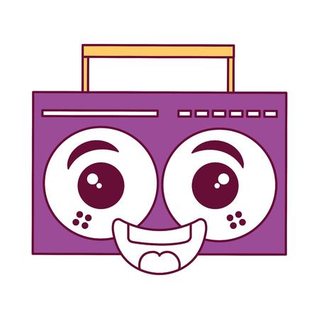 music player kawaii character vector illustration design Stock Photo