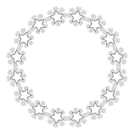 progettazione decorativa floreale circolare floreale illustrazione vettoriale