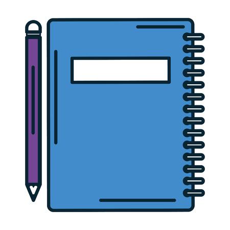 notebook school with pencil vector illustration design Ilustrace