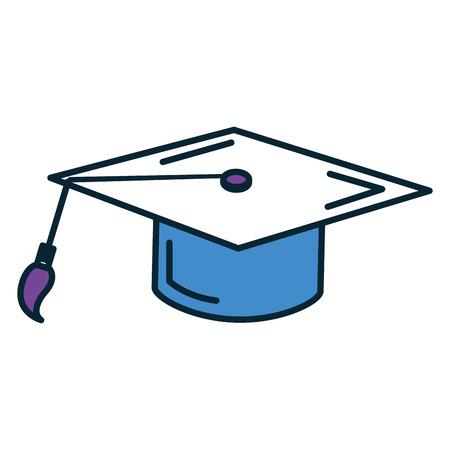 卒業の帽子アイコン ベクトル イラスト デザインを分離しました。 写真素材 - 82406600