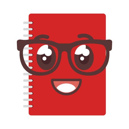 notebook school kawaii character vector illustration design Illustration