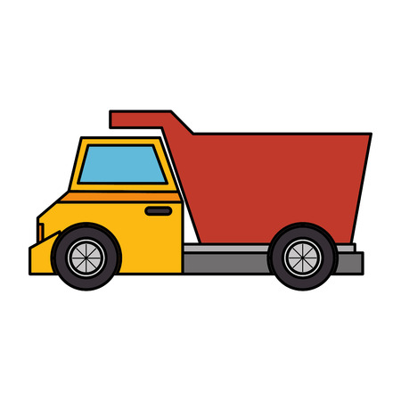movers: dump truck isolated icon vector illustration design