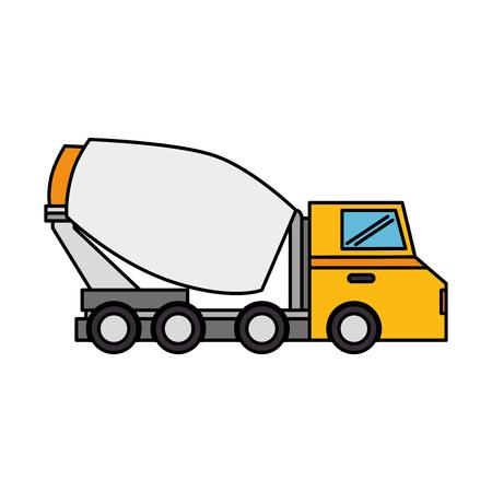 bétonnière camion icône vector illustration design