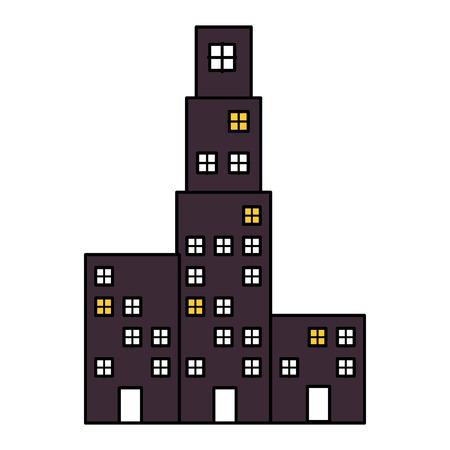 building cityscape isolated icon vector illustration design