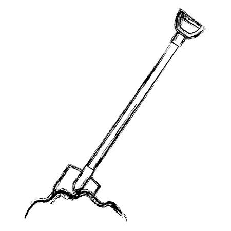 shovel construction isolated icon vector illustration design Çizim