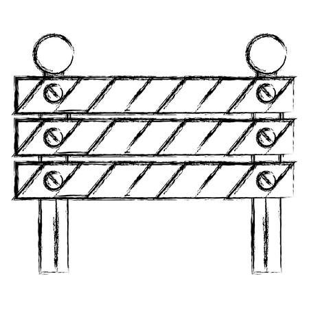 Icône de clôture de construction icône illustration vectorielle Banque d'images - 82406832