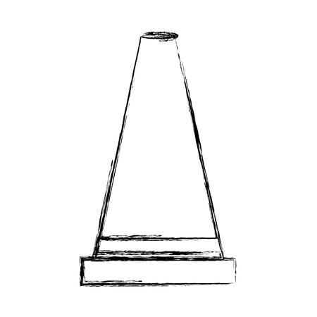 construction cone isolated icon vector illustration design Banco de Imagens