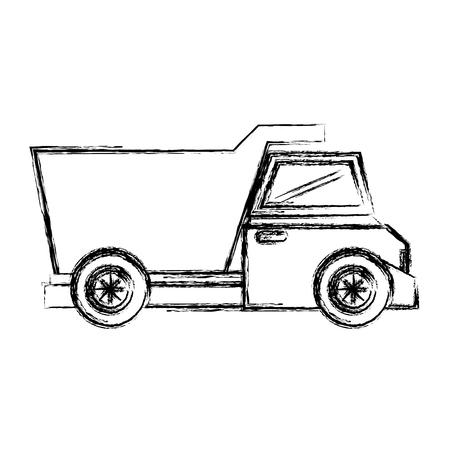 heavy: dump truck isolated icon vector illustration design