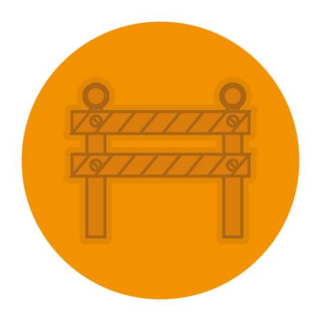 Construction barrière signal icône illustration vectorielle conception Banque d'images - 82406868