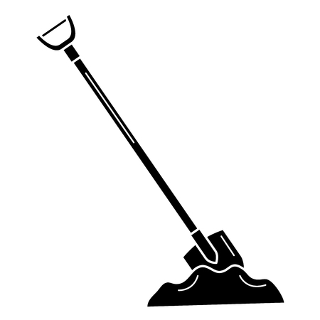shovel construction isolated icon vector illustration design Illustration