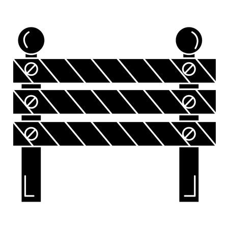 Construction barrière signal icône illustration vectorielle conception Banque d'images - 82408710