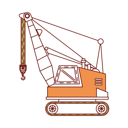 heavy: crane construction isolated icon vector illustration design