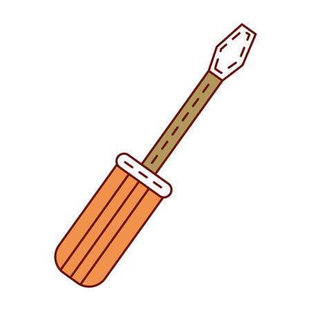 steel: screwdriver tool isolated icon vector illustration design