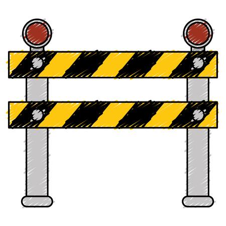 Construction barrière signal icône illustration vectorielle conception Banque d'images - 82408744