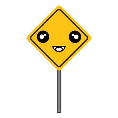 traffic signal kawaii character vector illustration design Çizim