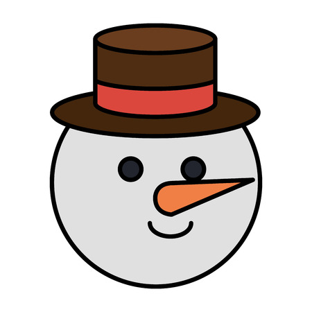 cute christmas snowman character vector illustration design Stok Fotoğraf - 82408898