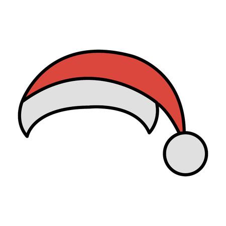 santa claus hat icon vector illustration design