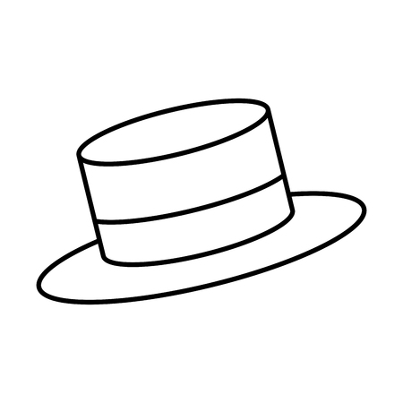 snowman hat isolated icon vector illustration design