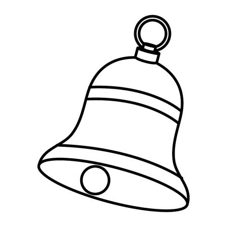 christmas bell decorative icon vector illustration design Illustration