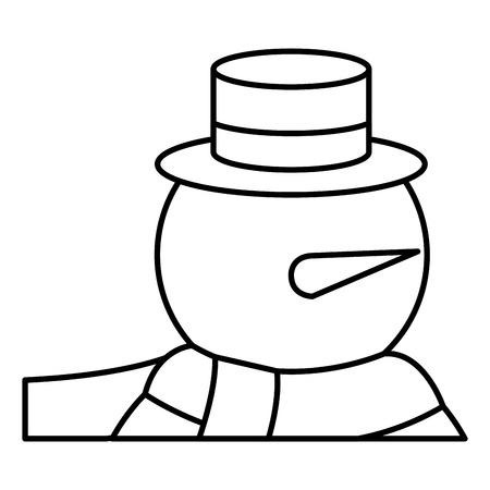 Illustrazione vettoriale illustrazione vettoriale pupazzo di neve di Natale Archivio Fotografico - 82408924