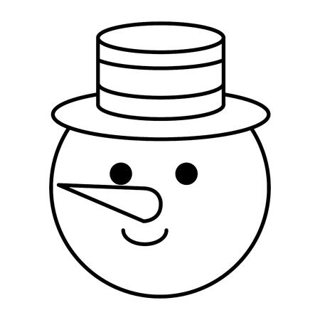 Progettazione dell'illustrazione di vettore del carattere del pupazzo di neve sveglio di Natale Archivio Fotografico - 82408925