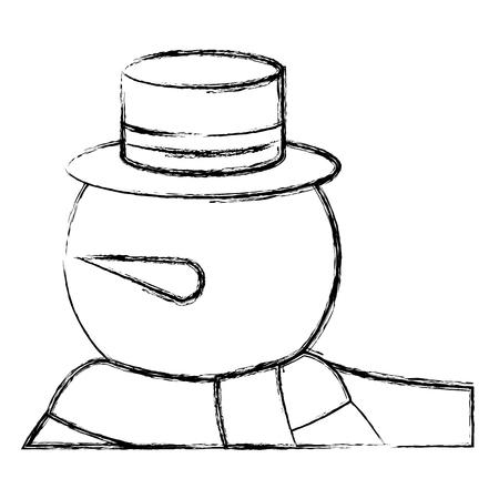 leuk ontwerp van de het karakter vectorillustratie van de sneeuwman Stock Illustratie
