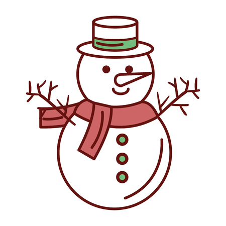 cute christmas snowman character vector illustration design Zdjęcie Seryjne - 82408979