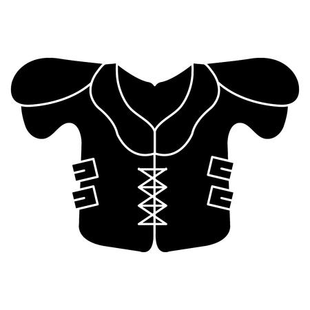 american football jacket icon vector illustration design