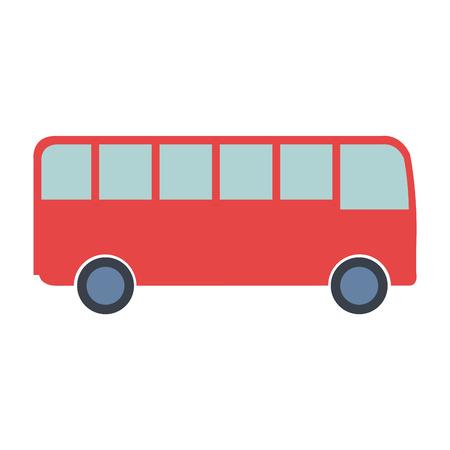 버스 차량 격리 된 아이콘 벡터 일러스트 디자인