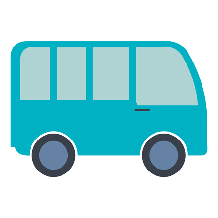 delivery truck: van vehicle isolated icon vector illustration design