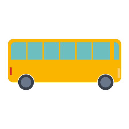 bus vehicle isolated icon vector illustration design Ilustrace