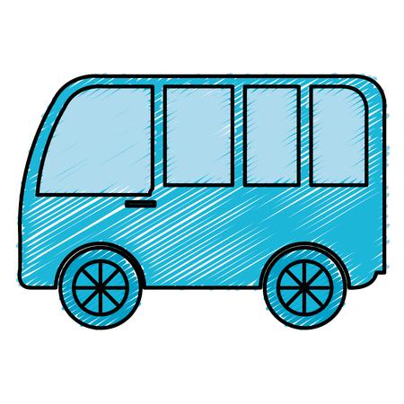 truck: van vehicle isolated icon vector illustration design