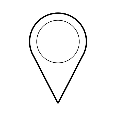 pin pointer location icon vector illustration design