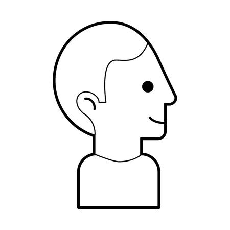 Tête homme avatar conception vecteur de caractères illustration Banque d'images - 82527117