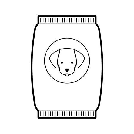 mascot food bag icon vector illustration design