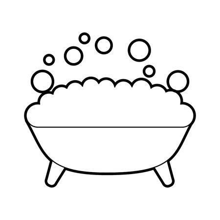 Tub with foam icon vector illustration design