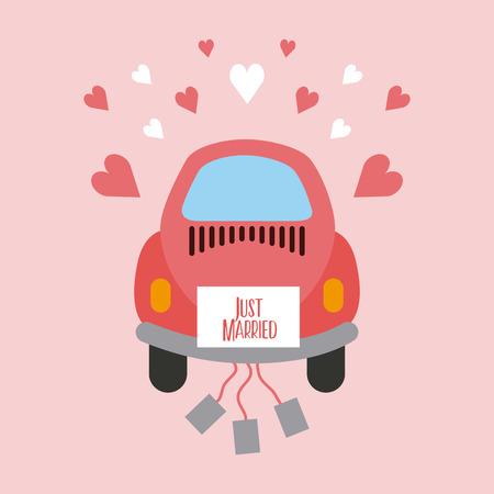Recém casado feliz ícone vector ilustração design gráfico