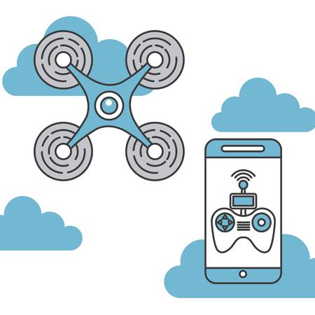 drone game funny icon vector illiustration design graphic Illustration