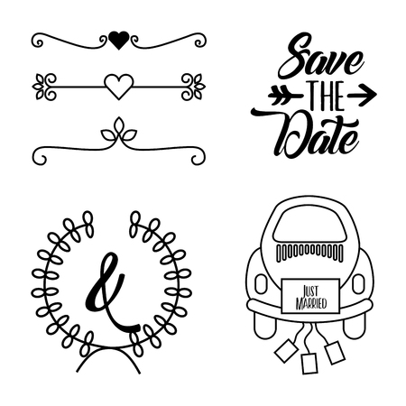 save the date special icon vector illustration design graphic Ilustrace