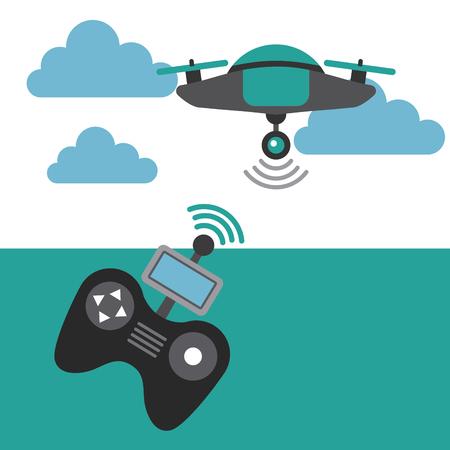 drone game funny icon vector illiustration design graphic Ilustrace