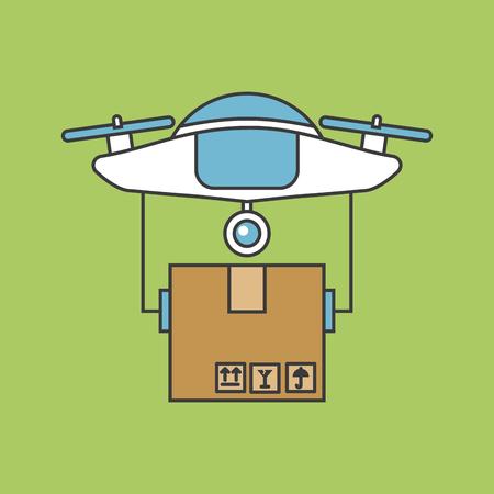 ドローン送信対応アイコン ベクトル イラスト デザイン グラフィック