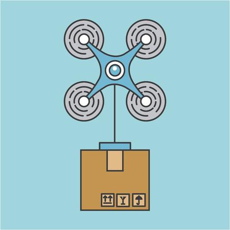 드론은 통신 아이콘 벡터 일러스트 레이 션 디자인 그래픽을 보냅니다.