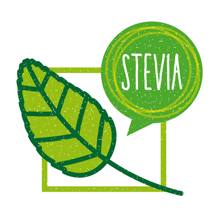 ステビア天然甘味料のアイコン ベクトル イラスト デザイン グラフィック