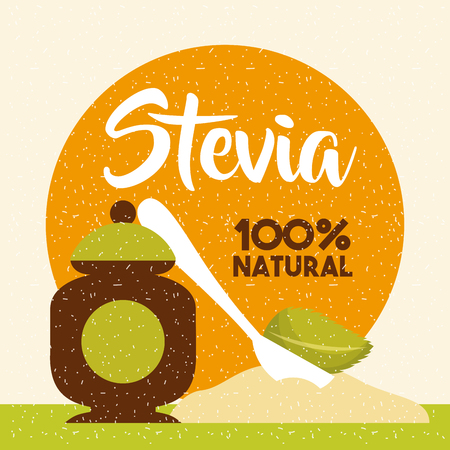 Stevia natural sweetener icon vector illustration design graphic Ilustracja